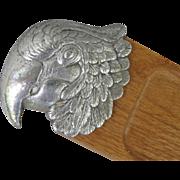 SOLD Arthur Court Macaw Head Cutting Board Cracker Tray