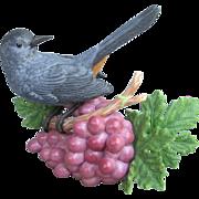 SOLD Lenox Gray Catbird on Grapes