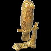 SOLD Brass Parrot Match Holder