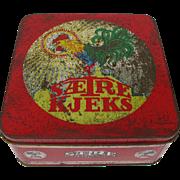 Vintage Rooster Chicken Biscuit Tin Norway