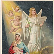 """""""Merry Christmas"""" - Angels - Mary & Baby Jesus"""