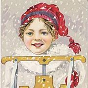 """Christmas Greeting"" - Child - Sled"