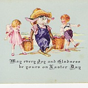 """May Every Joy & Gladness be yours on Easter Day"" - Rabbit - Children"