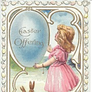 """Easter Offering"" - Child - Rabbits - Colored Eggs"