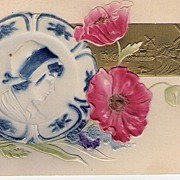 """""""Delft Plate with Red Flowers"""