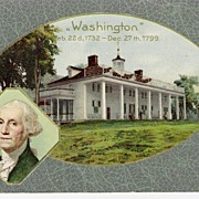 """George Washington - 1732 -1799 - Postcard"