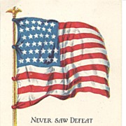 """Never Saw Defeat"" - Ship & USA Flag"