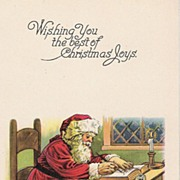 """Wishing You the best of Christmas Joys"" - Santa Claus - Toys"