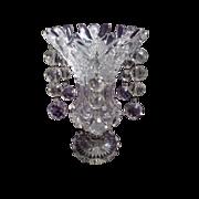 SOLD RARE Lustre/Vase, American Brilliant Period, Glass