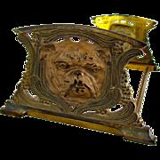 Nouveau Bulldog Bookends/Book Rack Cast Iron