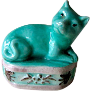 SOLD Vintage Chinese Cat on Plinth