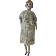 Doll House Lady with Vintage Dress