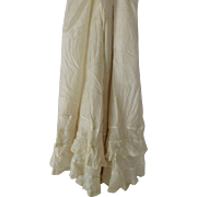 SOLD Pure Silk Antique Ladies' Skirt with Lace Trimmed Ruffles For Doll Clothes