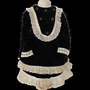 Deep Forest Green Velvet Doll Dress
