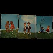Three Kathe Kruse Postcards, Printed in Germany
