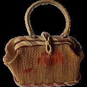 Straw Bag For a French Fashion
