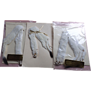 Three Ermine Pelts--great for Doll Stoles