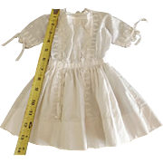 Lovely White Doll Dress With Ribbon Trim
