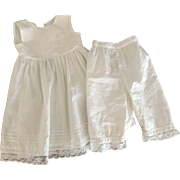 Doll's Full Slip with Matching Pantaloons