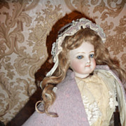 SALE Wonderful antique wool bonnet and cape for french fashion or lady doll
