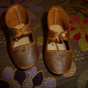 SALE Nice heavy leather antique doll shoes for bisque doll