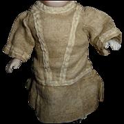 Tiny antique linen doll dress