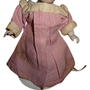 Darling little antique pink linen doll dress