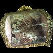 Wedding display cushion, rose colour, cushion, flowers, wedding wax flowers tiara