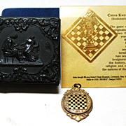 SALE Chess playing related collectable items including 1957 ISLE OF MAN CHESS CONGRESS badge