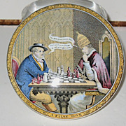 Chess players porcelain box cover John and Paul