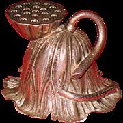 Chinese sterling silver salt shaker Lotus flower sign