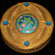 French bronze gilded dore jeweled enameled box 19th century