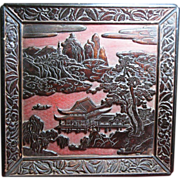 Japanese lacquer tray 17/18th century  sign