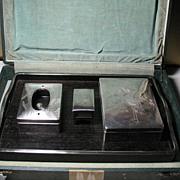 SALE Japanese 950 silver and kiri wood (paulownia) 4-pieces smoking set sign