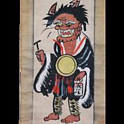 SOLD Japanese painting from OTSU depicting  of Oni No Nembutsu Edo period