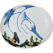 Japanese porcelain studio tray by famous TSUJI the 11th circa 1880