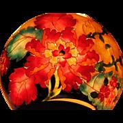 Art Nouveau cloisonne Plique-a-jour bowl with flowers design Russian Japanese techniques