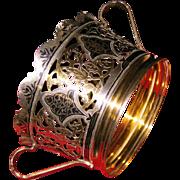 Russian 875 silver niello basket Moscow circa 1958