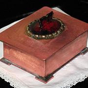 SALE Art Deco circa 1930 enamel copper box by Serge Nekrassoff