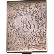 Sterling silver vesta match holder safe New York early 1900
