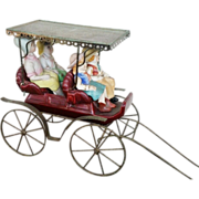 Metlox Pottery Large Unusual Carriage and Doll Figures
