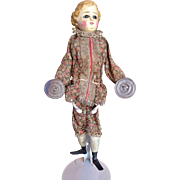 Mechanical Doll Playing Cymbals with Glass Eyes