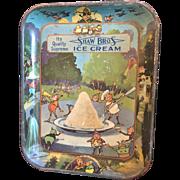 Rare Palmer Cox Brownie Tin Tray Advertising Ice Cream