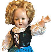 Great Shirley Temple Composition Doll Fully Marked