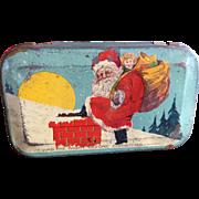 Santa Claus Night Before Christmas Candy Tin