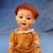 SOLD Bisque Head German Character Baby Doll - Red Tag Sale Item
