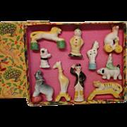 Porcelain Toy Circus Set in Original Box
