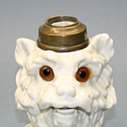 Rare Terrier Dog Figural Antique Oil Lamp