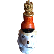 SOLD Dog Crown Top French Perfume Bottle