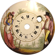 French Enamel Clock Pocket Watch Face
